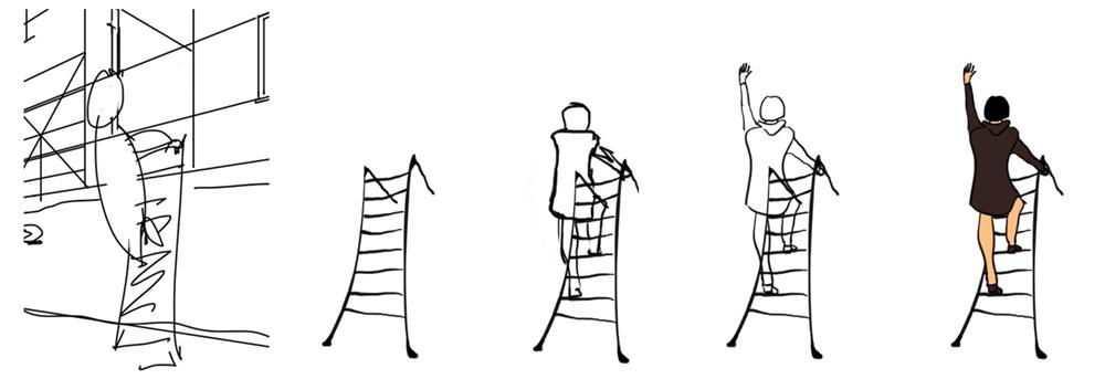 vrouw op ladder 1-5 _1000