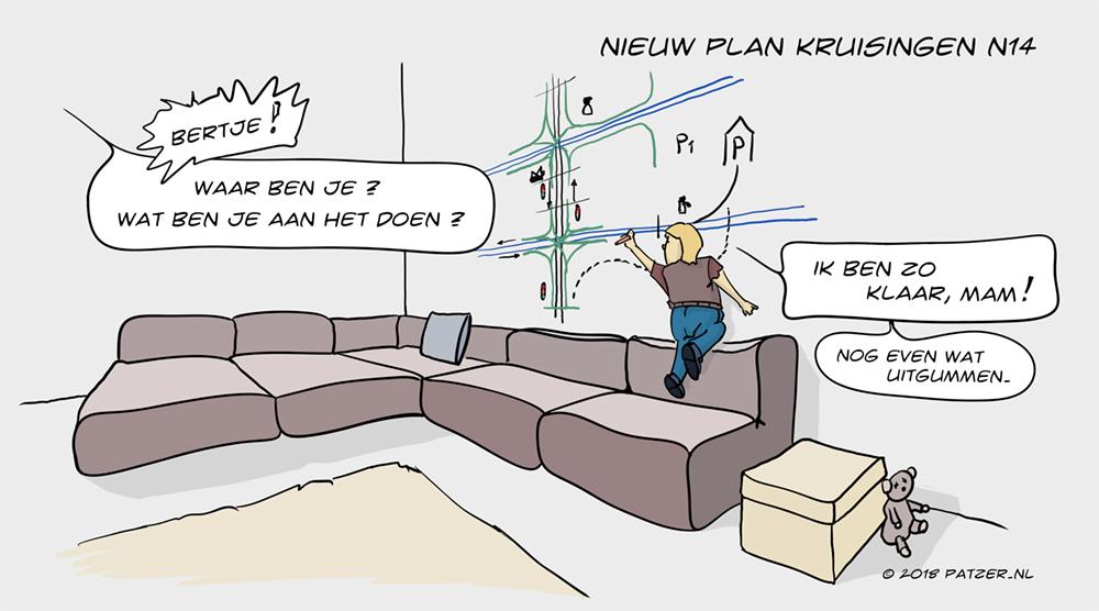 Nieuw plan kruisingen N14