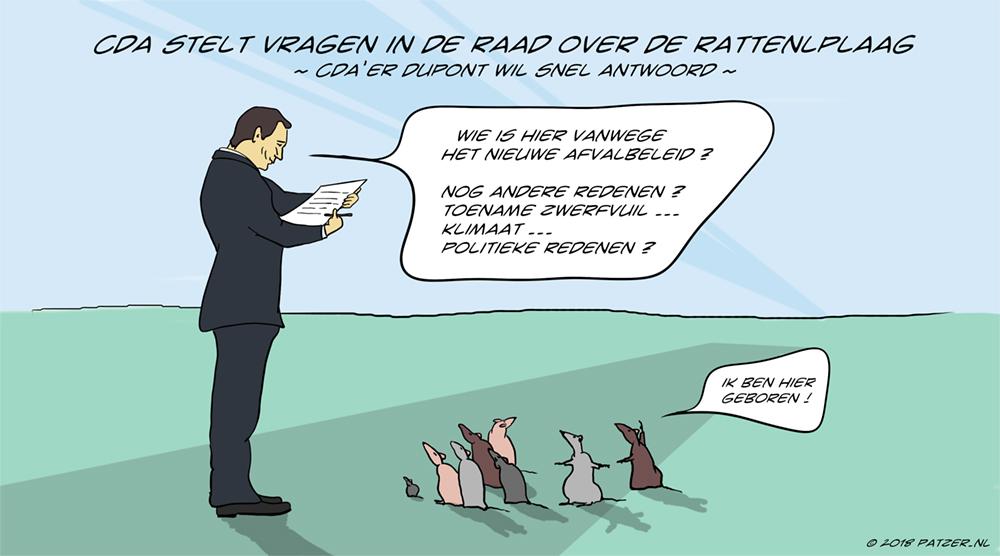 CDA stelt vragen over ratten