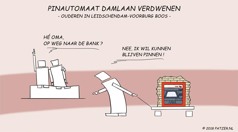 Pinautomaat Damlaan verdwenen