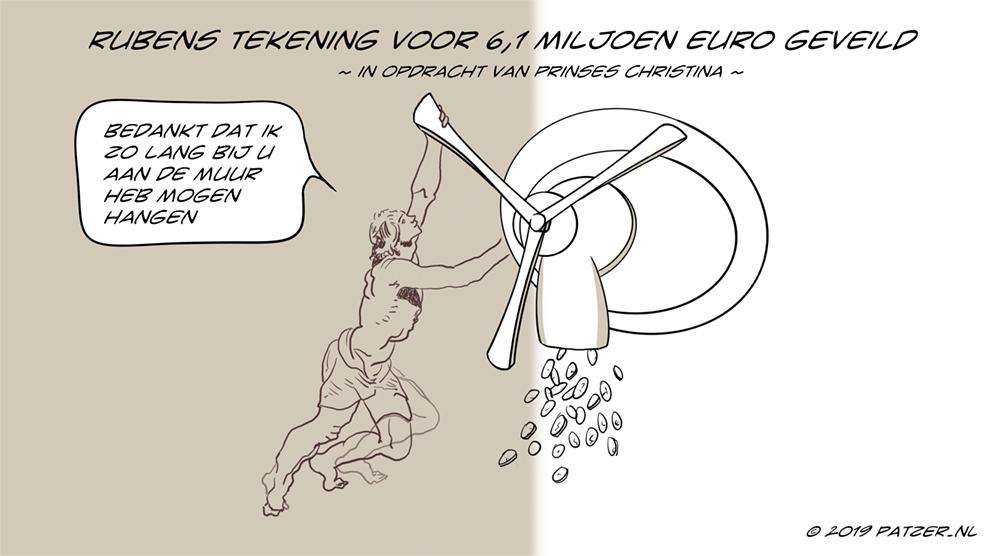 Rubens tekening voor 6,1 miljoen geveild