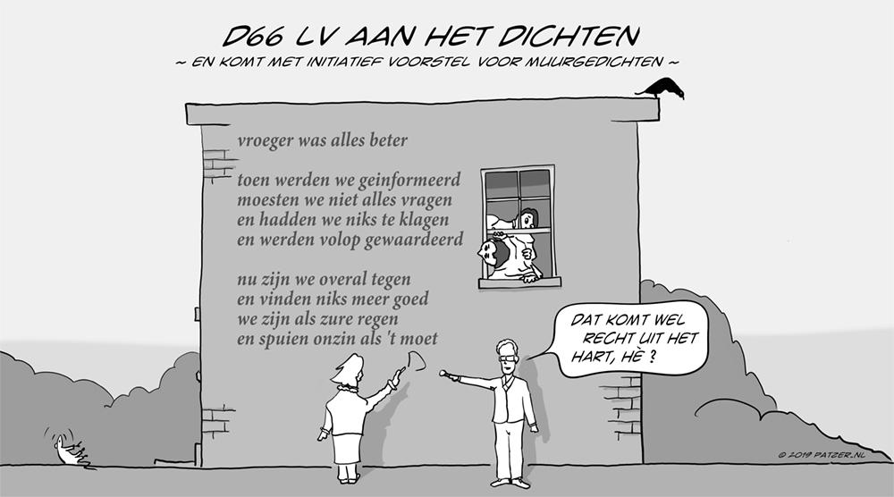 D66 aan het dichten