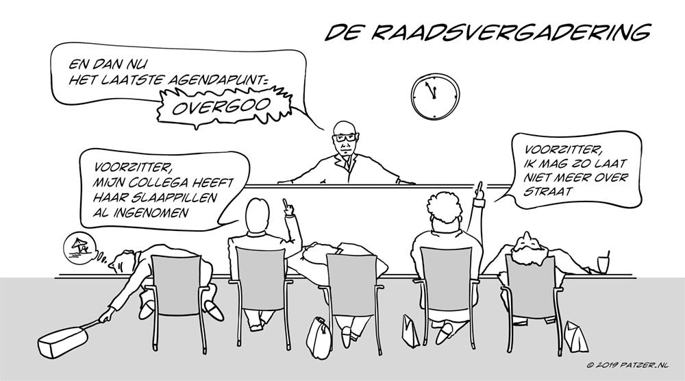De raadsvergadering